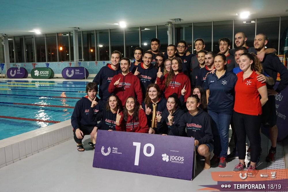 79782e4769 FADU - Minho conquista troféu coletivo no CNU de piscina curta