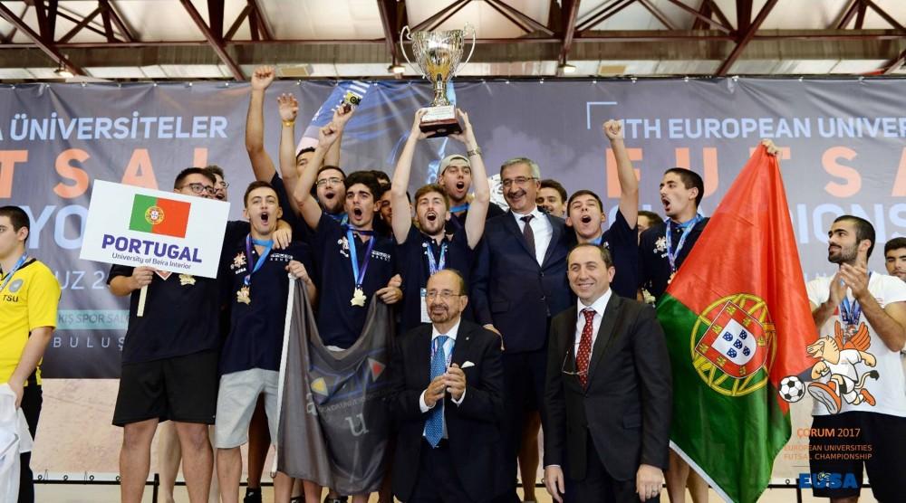 2cd06b63e7 A Associação Académica da Universidade da Beira Interior UBI conquistou o campeonato  europeu universitário de futsal