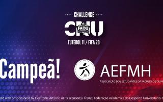 AEFMH vence Challenge CNU Futebol 11 - FIFA 20