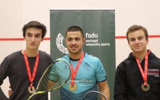 Jorge Monteiro (AAUAv) e Catarina Nunes (U.Porto) voltam a ser campeões no Squash