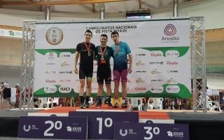 Francisco Duarte da AEFCL levou o ouro no Ciclismo de pista